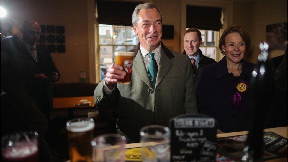 Nigel Farage and Victoria Ayling
