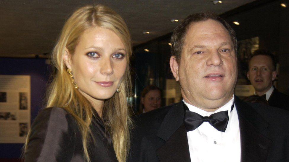 Gwyneth Paltrow with Harvey Weinstein in 2002