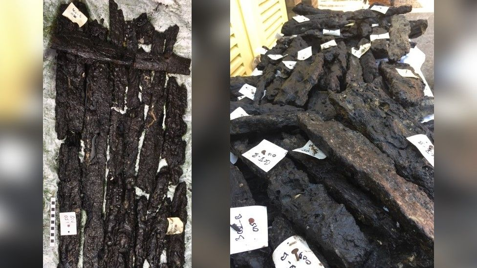 Wooden Stone Age platform found on seabed off Isle of Wight