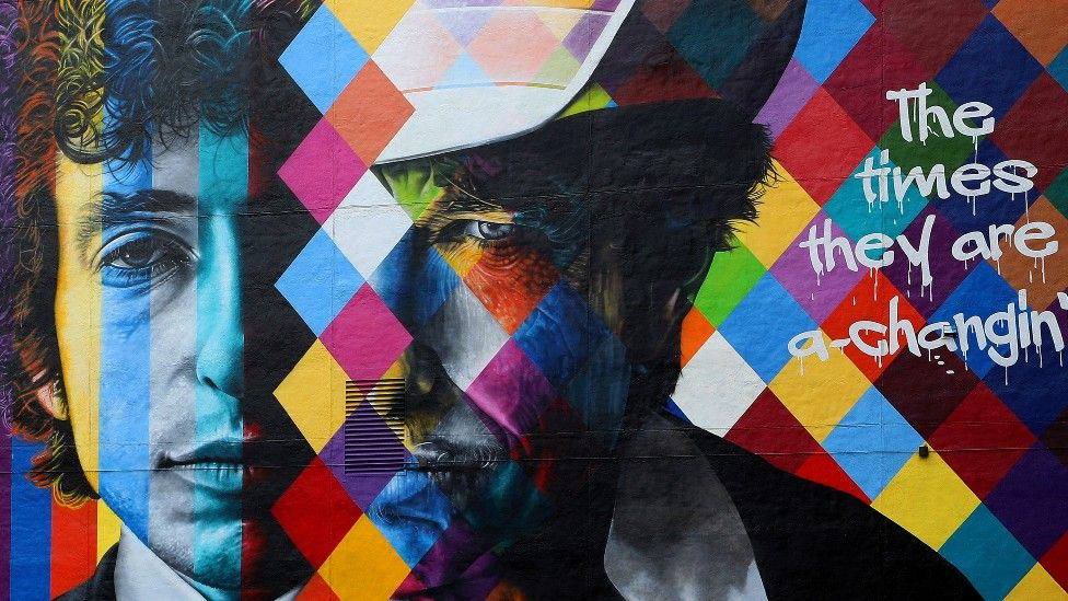 Eduardo Kobra's Bob Dylan mural in Minneapolis