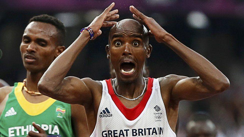 Mo Farah wins gold in Men's 5000m, London 2012