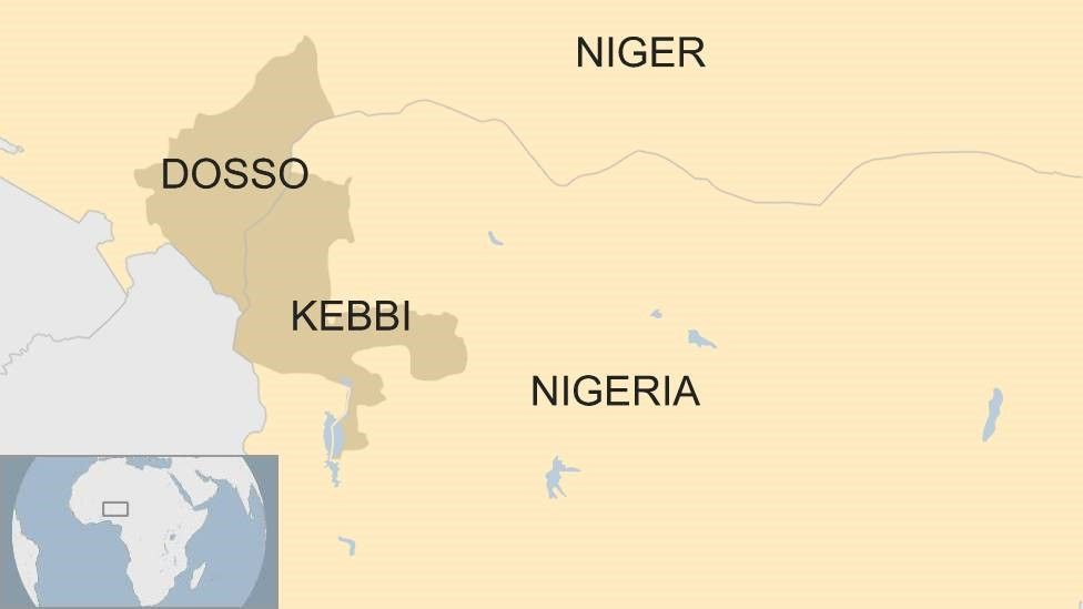 Map of Nigeria and Niger