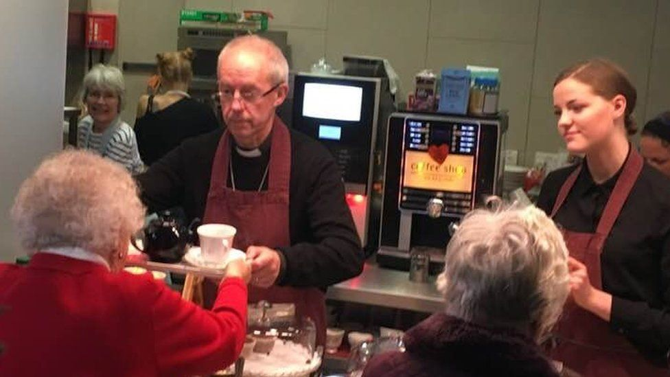 The Archbishop of Canterbury serving at St Stephens