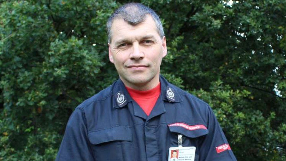 Roy Harold MBE, former chief fire officer of Norfolk