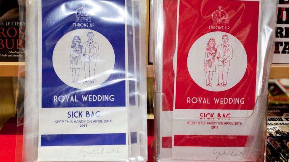 Royal wedding sick bags
