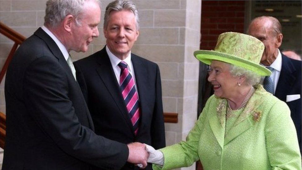 Martin McGuinness and Queen