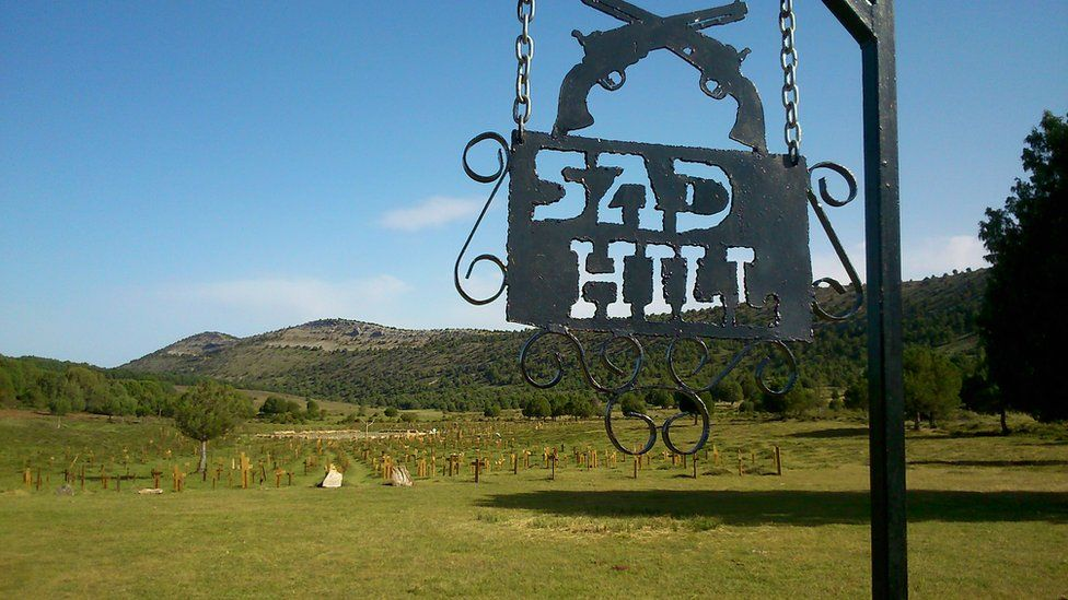 Entrance to Sad Hill cemetery location