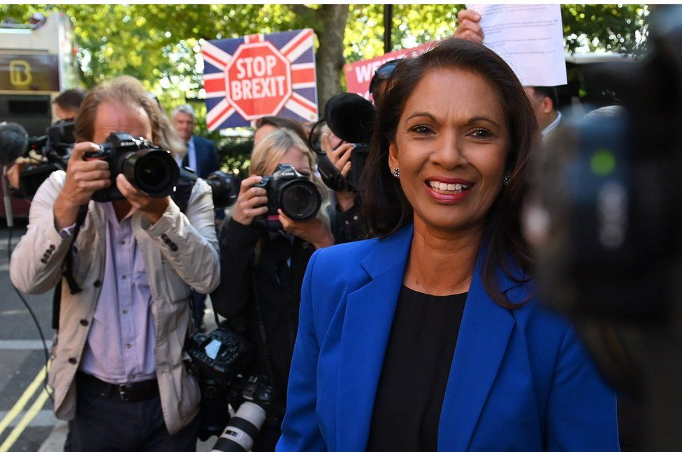 Gina Miller after winning her legal challenge in the Supreme Court