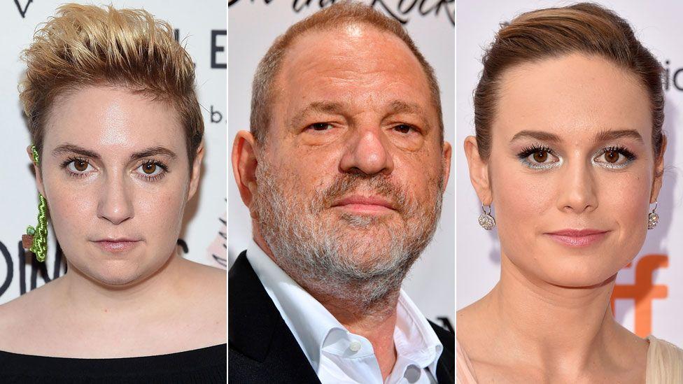 Lena Dunham, Harvey Weinstein and Brie Larson