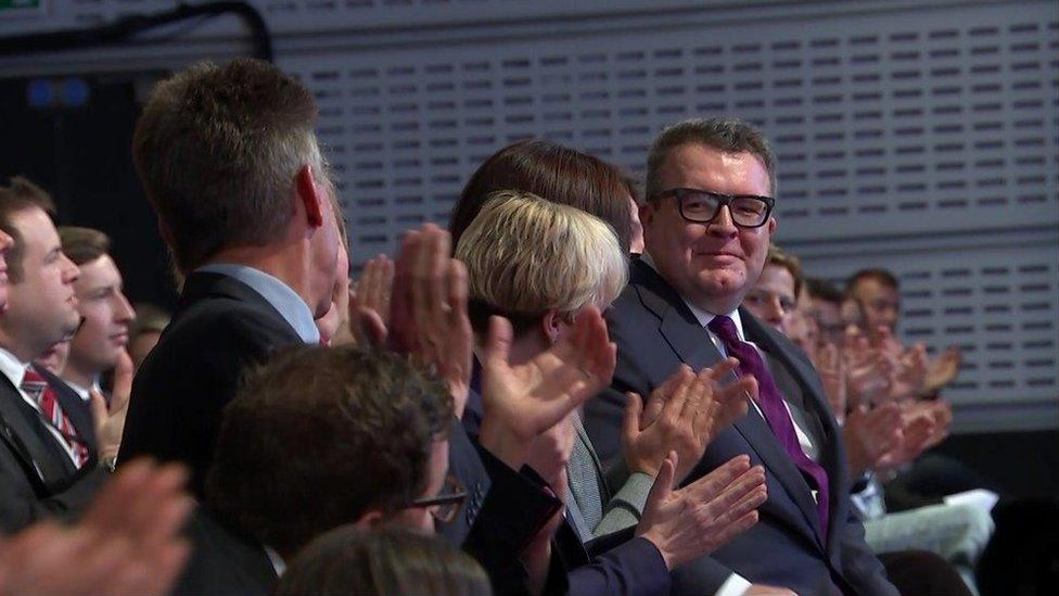 Tom Watson being applauded
