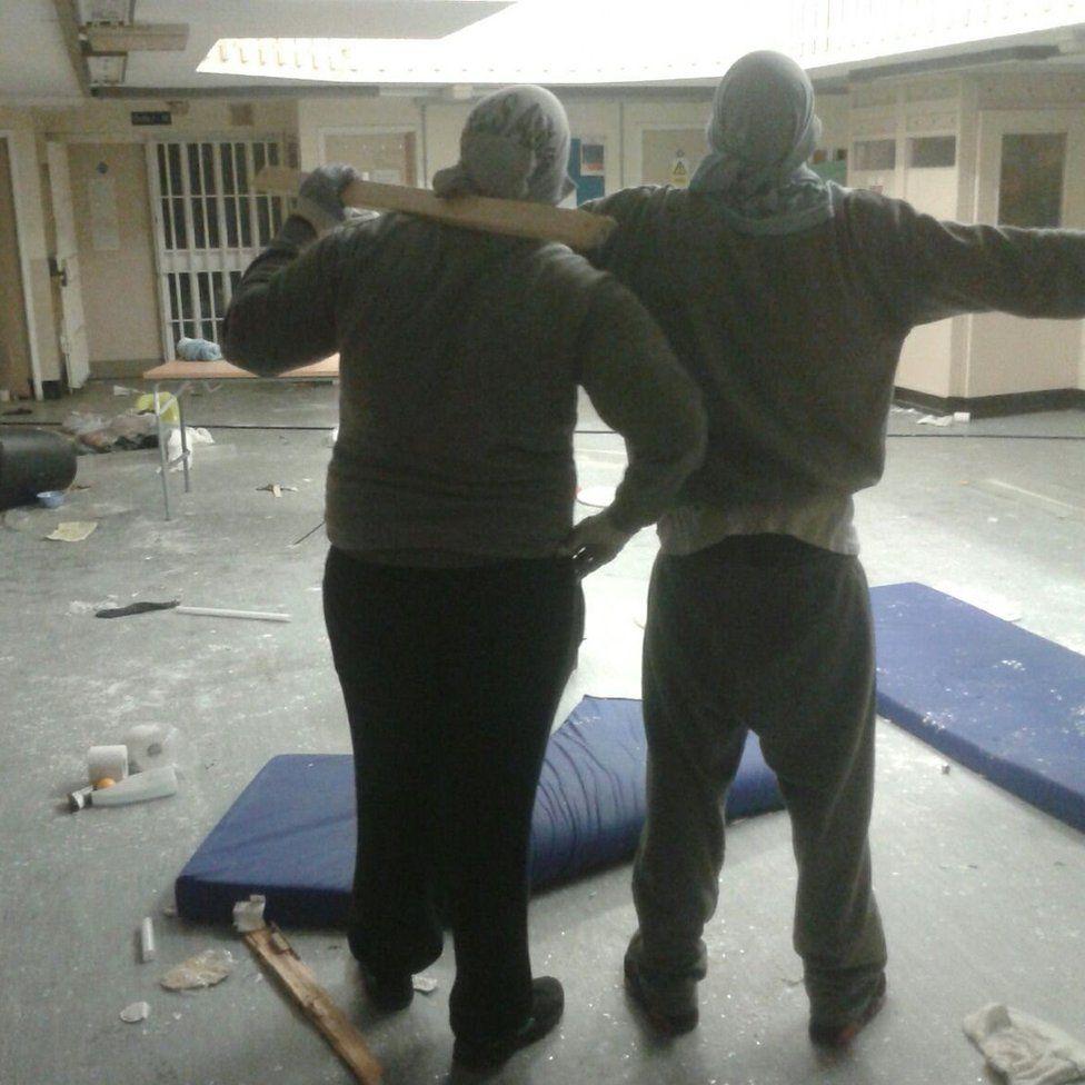 Image from inside Swaleside prison