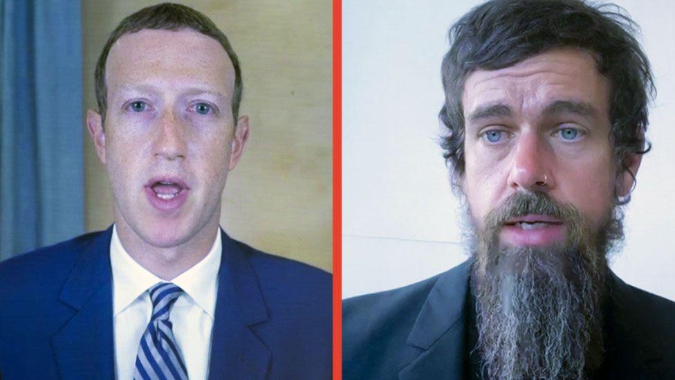 Mark Zuckerberg and Jack Dorsey