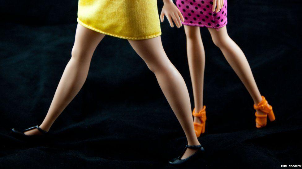 Curvy Barbie has a longer stride than Original Barbie