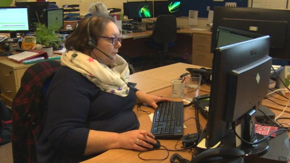 The CAP call centre in Bradford