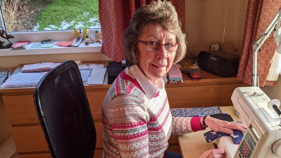 Susan Phoenix sewing