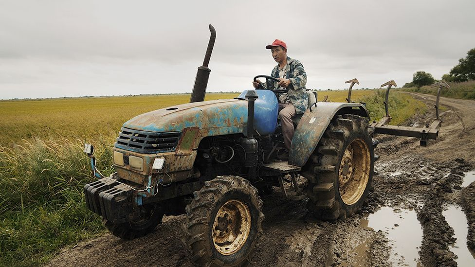 A Chinese tractor driver