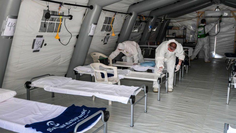 Un hospital de campaña