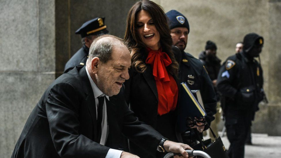 Harvey Weinstein and his attorney Donna Rotunno,