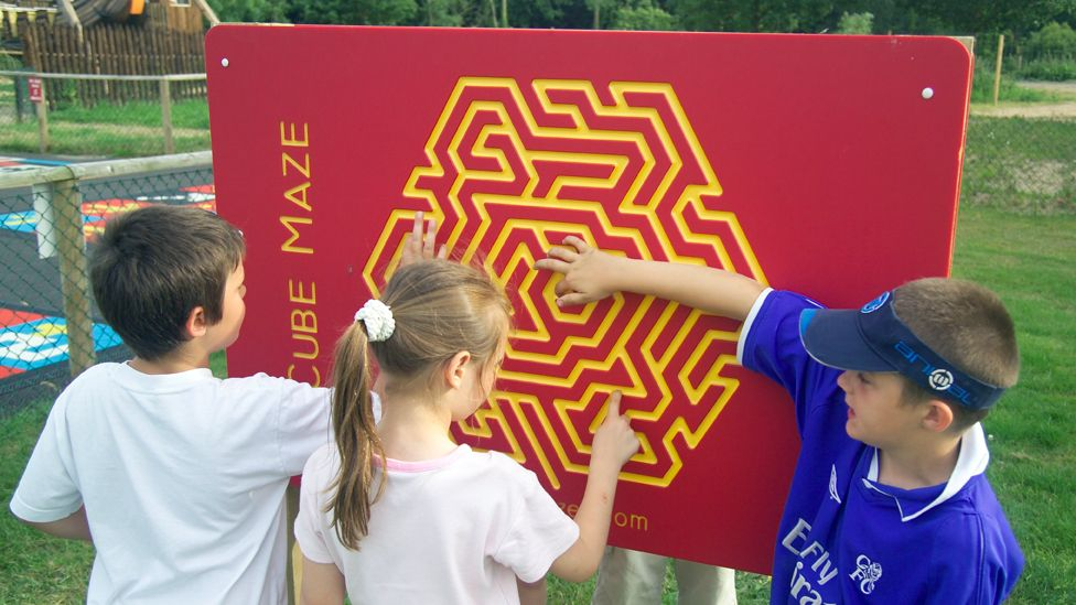 A finger maze made by Mr Fisher