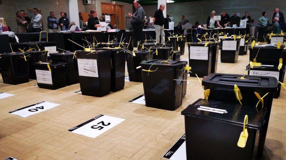 Torbay ballot boxes
