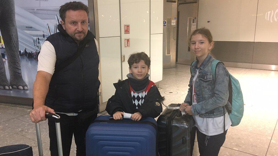 Daniel Maloney with children Freddie, 9, and Isabella, 12