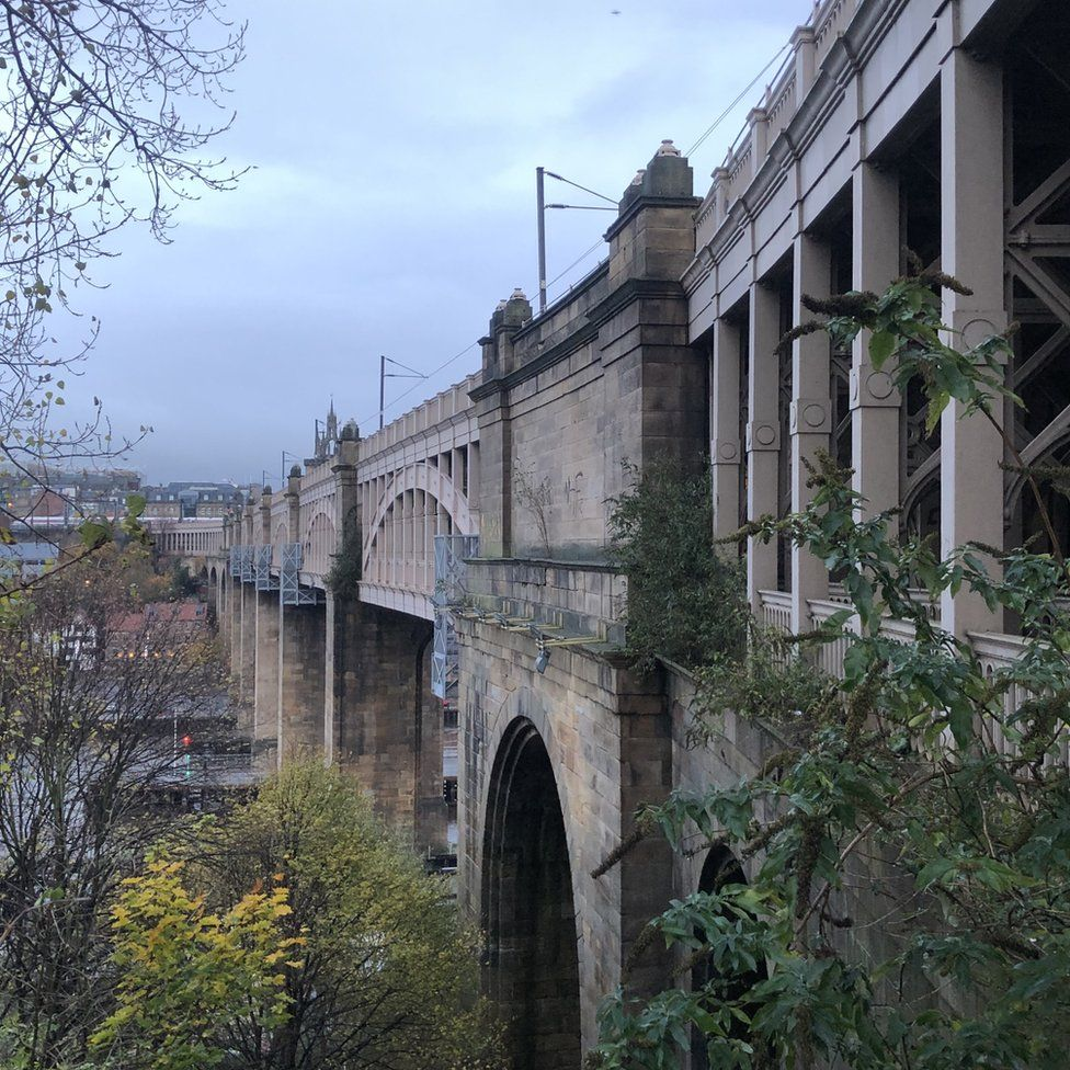 The High Level Bridge which spans the River Tyne between Newcastle and Gateshead
