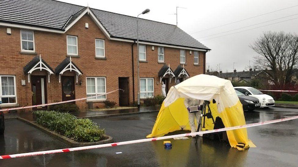 The scene of the murder in Lisburn
