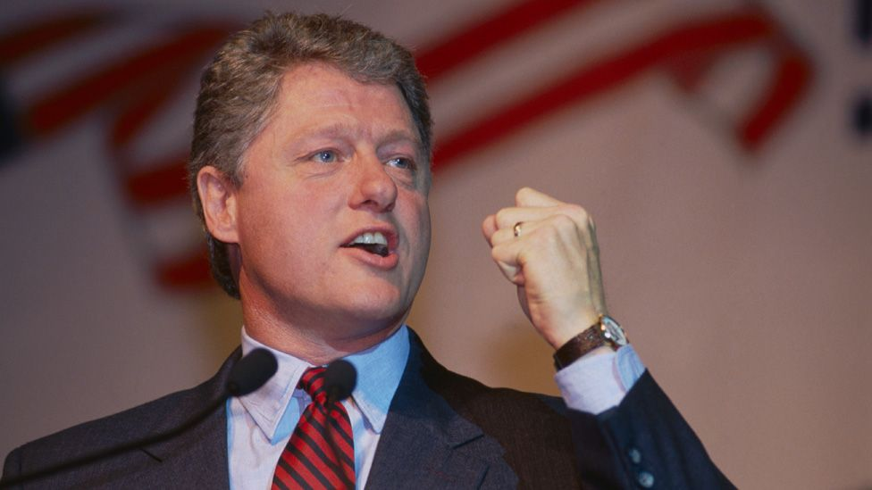 Bill Clinton during the 1991 US presidential campaign