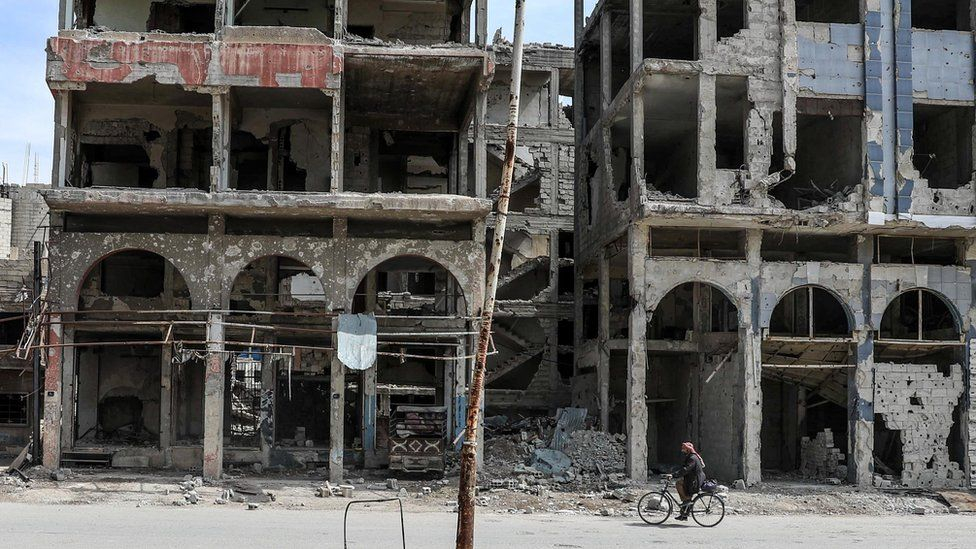 A massive escalation of force that began last month has devastated towns and cities in the Eastern Ghouta