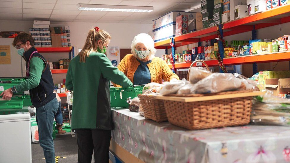 Allison Todd and volunteers at Mercy in Action's Bath HQ