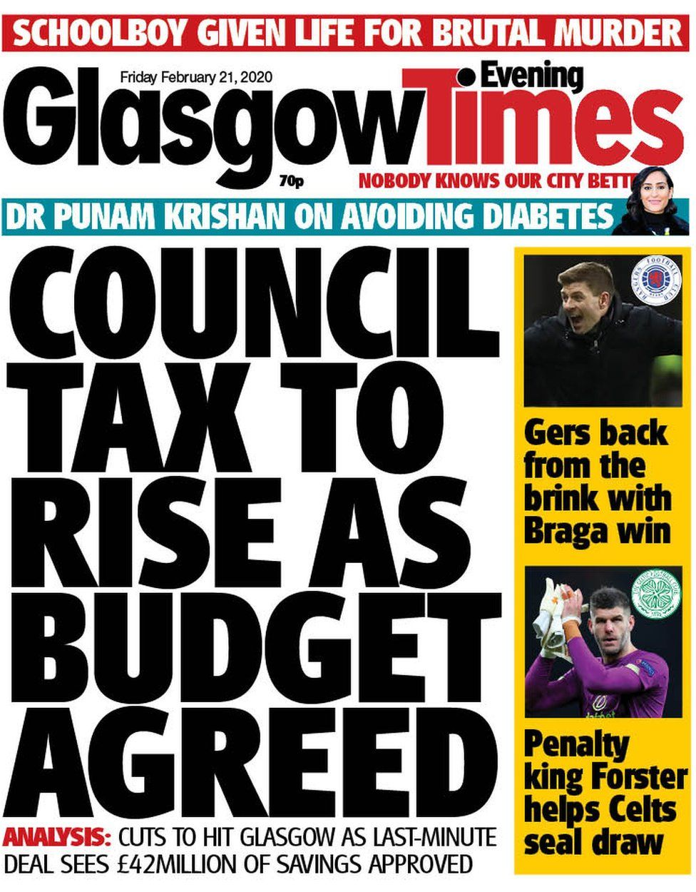 Glasgow Times front page