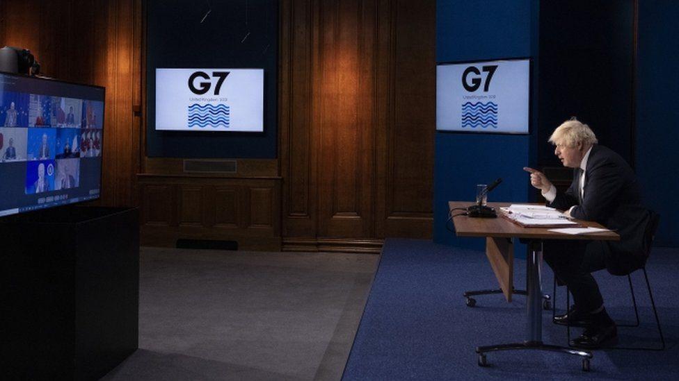 Boris Johnson chairing G7 meeting