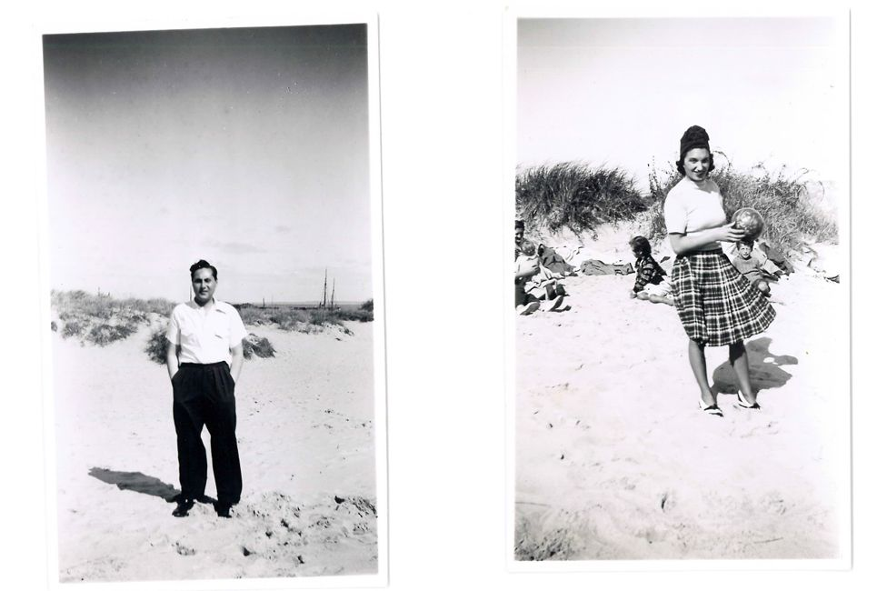 Raphael and Fanny at the beach