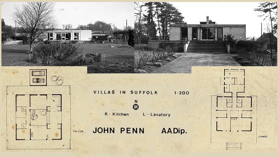 Villas in Suffolk, UK, by John Penn - constructed between 1962-69