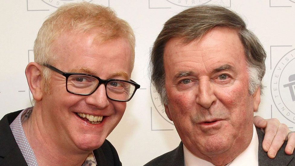 Chris Evans with Sir Terry Wogan