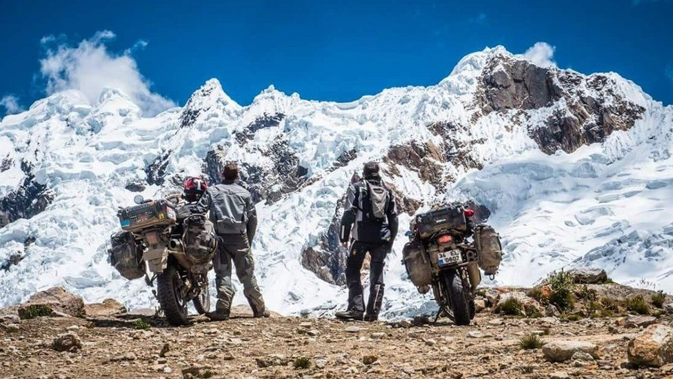 Motorcyclists in Peru