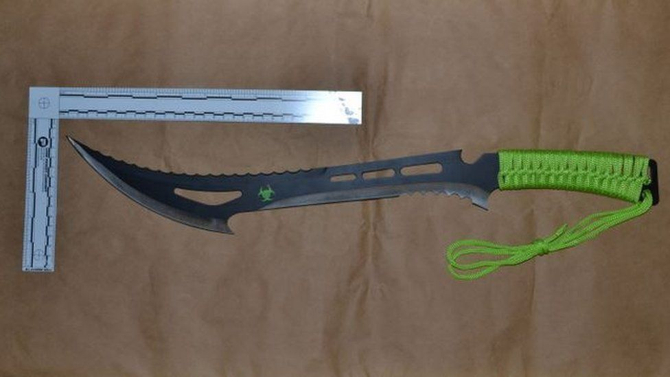 Zombie Killer machete used during the attack