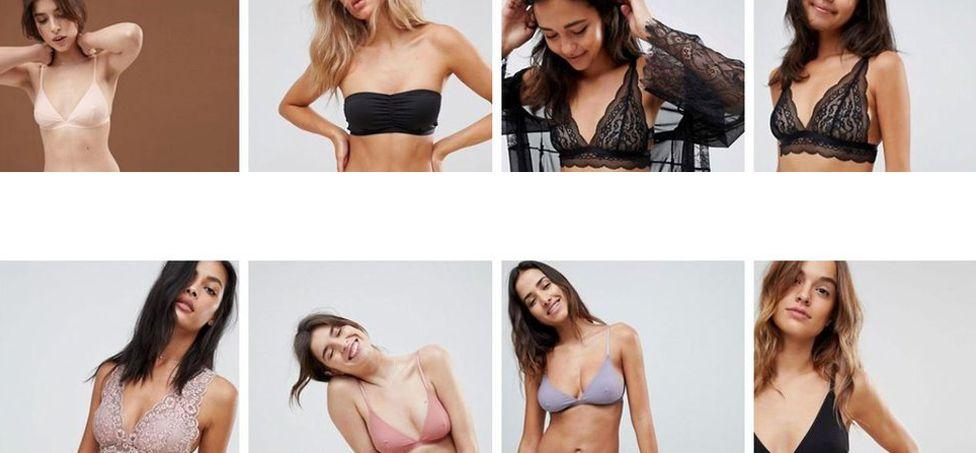 A shot of models on the asos website