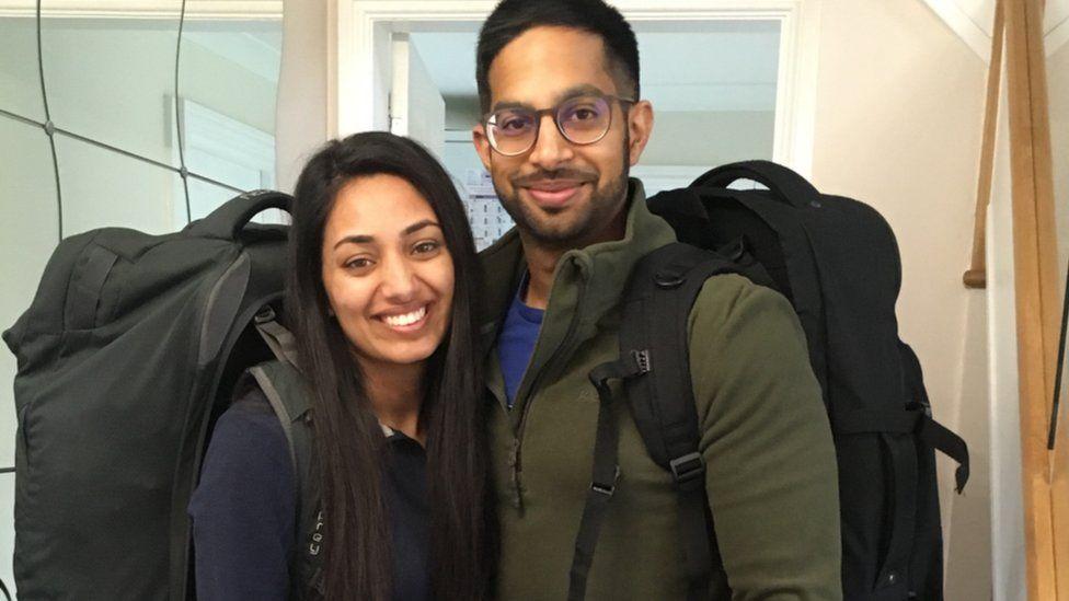 Atish Vadher and wife Jaspreet Vadher