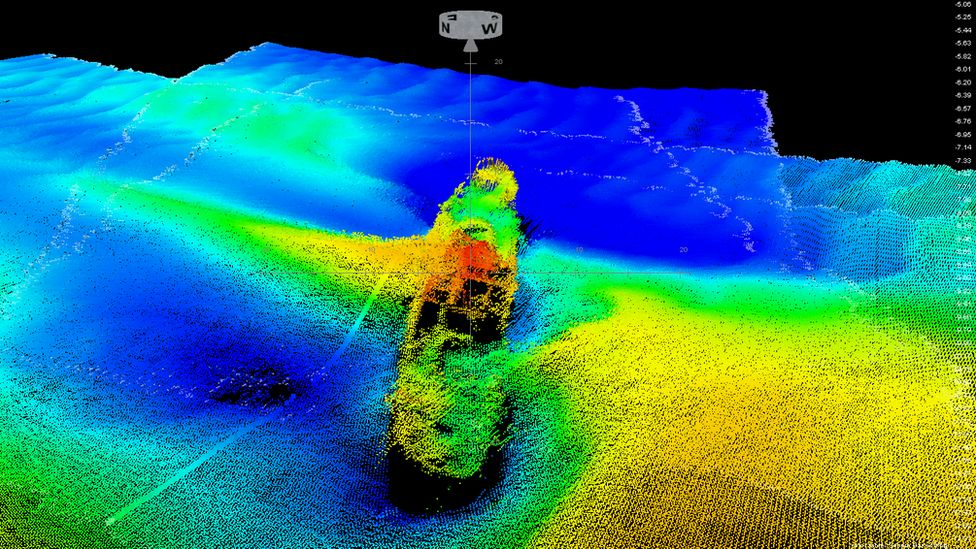 Images taken by Bristol Port's hydrographic team have revealed the wreck