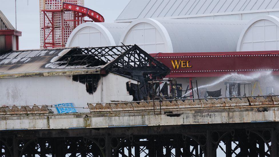 Central Pier fire