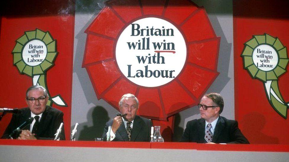 James Callaghan and Harold Wilson