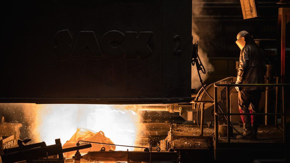 steel worker at plant