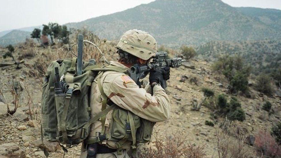 US troops in Afghanistan in 2003