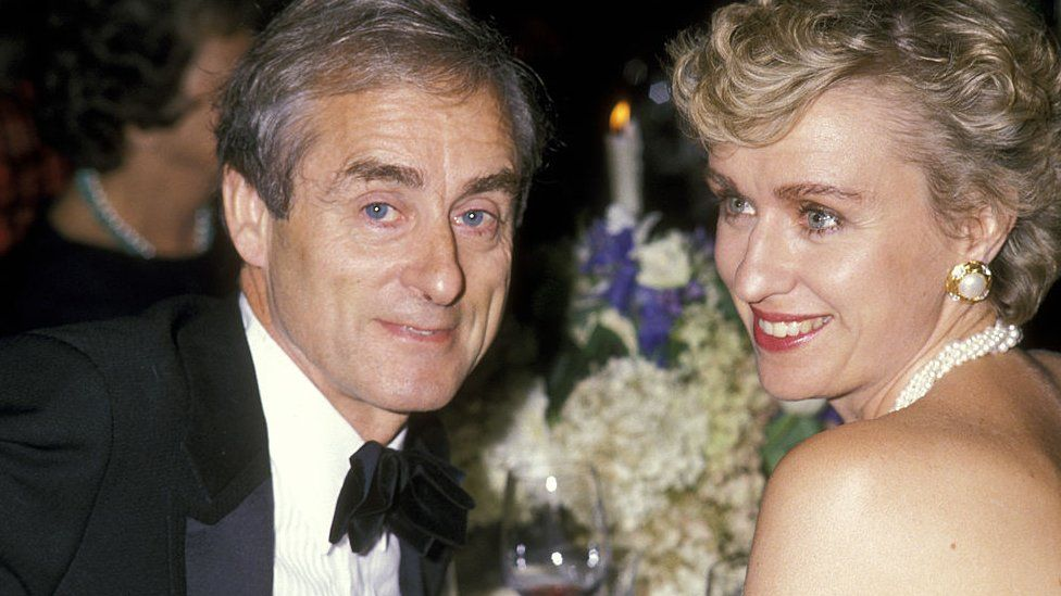 Harold Evans and Tina Brown attend Oxford University Fundraiser Dinner in 1989 in New York City