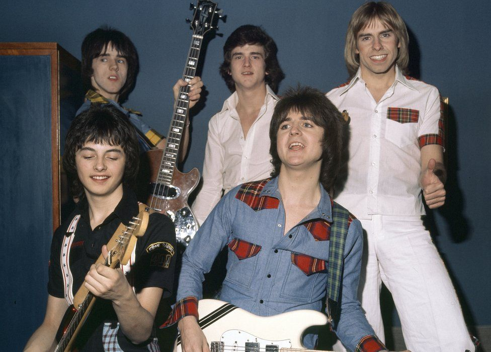 Ian Mitchell (bottom left) with the other Bay City Rollers