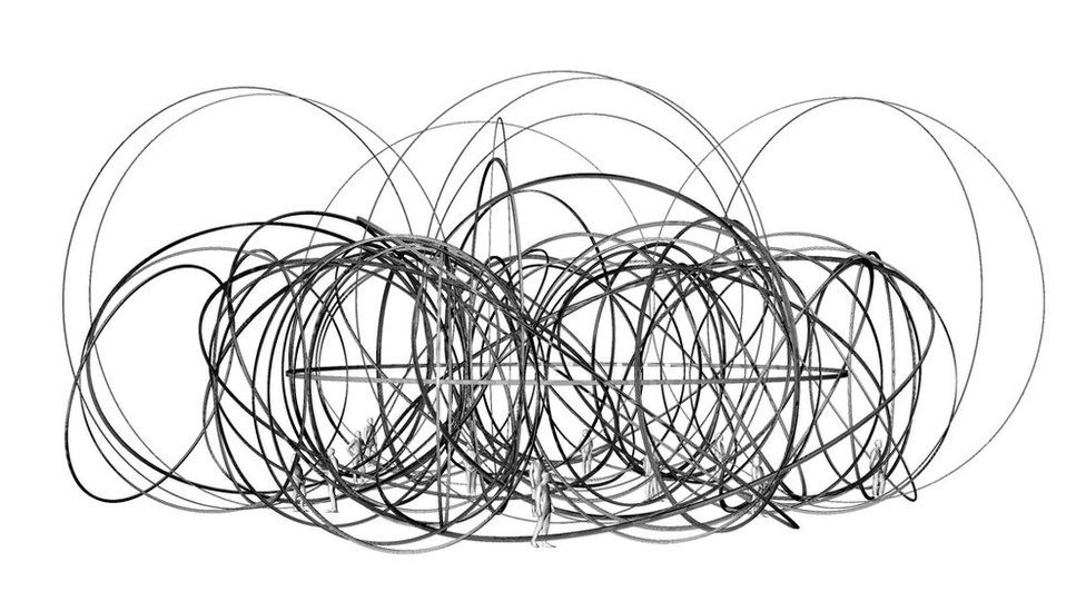Antony Gormley's scribble