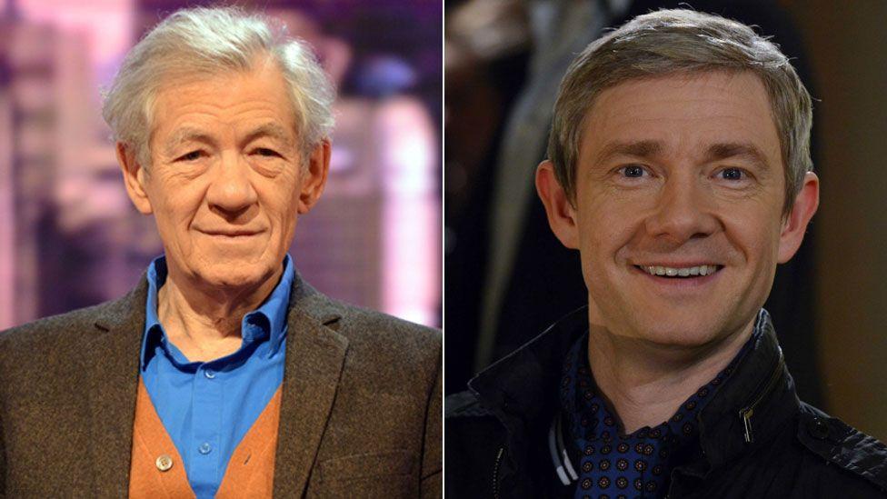 Ian McKellen and Martin Freeman