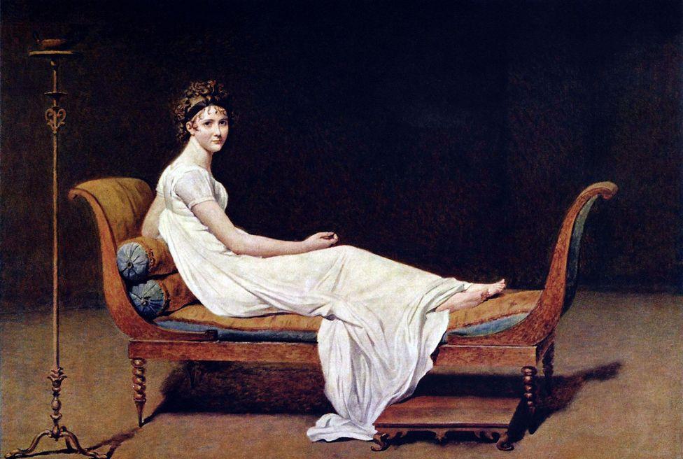Portrait of Madame Recamier by Jacques-Louis David