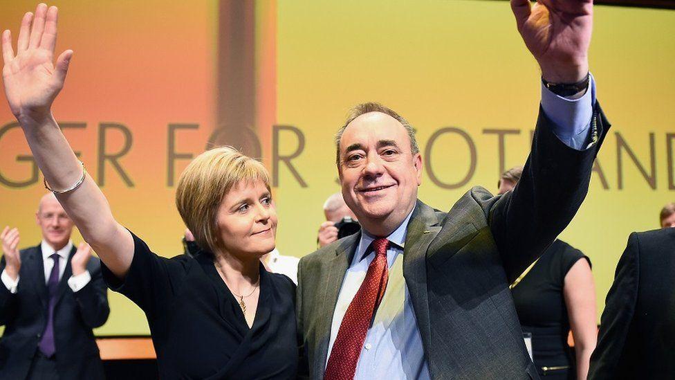 Nicola Sturgeon and Alex Salmond